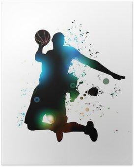Poster Abstrakt basketspelare