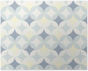 Poster Abstrakt retro geometriskt mönster