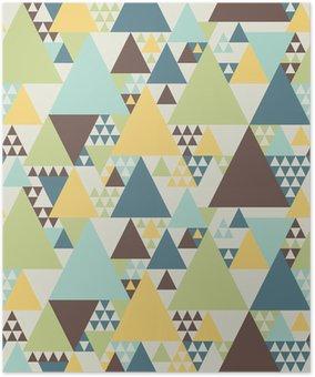Poster Abstrakta geometriska mönster # 2