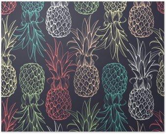 Poster Ananas seamless pattern