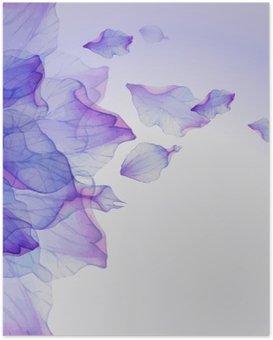 Poster Aquarelle motifs floraux rondes.