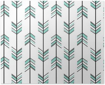 arrow seamless vector pattern background hipster illustration Poster