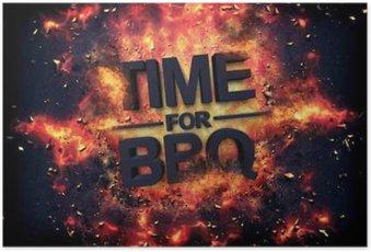 Poster Artistiek dramatische poster voor - Tijd voor BBQ