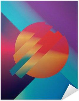 Póster Autoadhesivo Diseño de material de vectores de fondo abstracto con formas geométricas isométricos. Vivo, brillante, símbolo colorido brillante para el papel pintado.