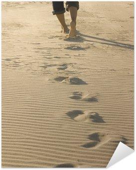 Póster Autoadhesivo Footprints