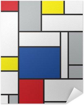 Póster Autoadhesivo Mondrian arte de inspiración