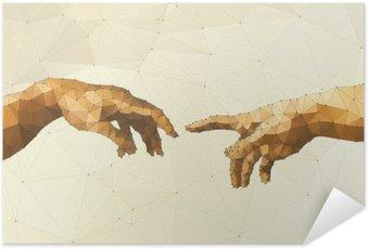 Poster Autocollant Abstract main illustration vectorielle de Dieu