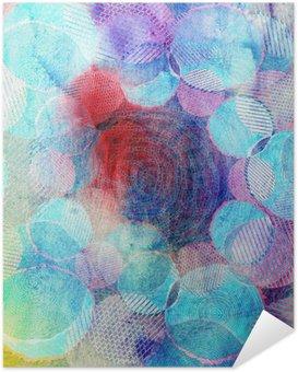 Poster Autocollant Cercles de couleur art illustration