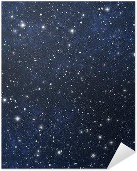 Poster Autocollant Ciel étoilé la nuit