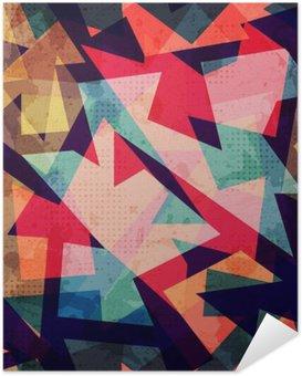 Poster Autocollant Grunge motif géométrique parfaite