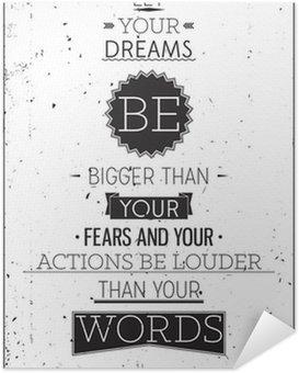 Poster Autocollant Grunge style rétro affiche de motivation avec la typographie