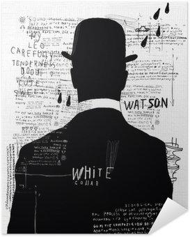 Poster Autocollant L'homme au chapeau