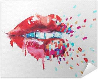 Poster Autocollant Lèvres