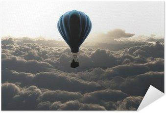 Poster Autocollant Montgolfière dans le ciel