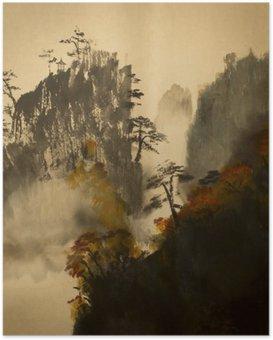 Poster Automne dans les montagnes de la Chine