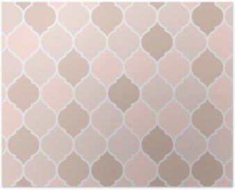Póster Baldosas sin fisuras patrón de color rosa, vector