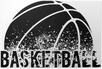 Poster Basketbal Grunge