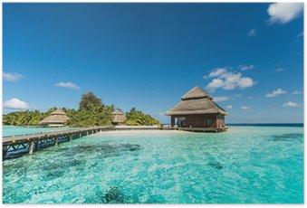 Poster Beach Villas sur la petite île tropicale