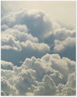 Poster Beau ciel bleu et nuages
