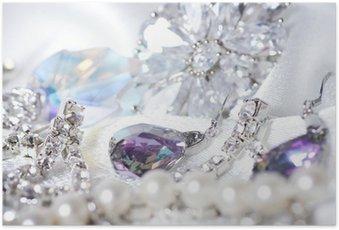 Poster Beaux bijoux sur fond