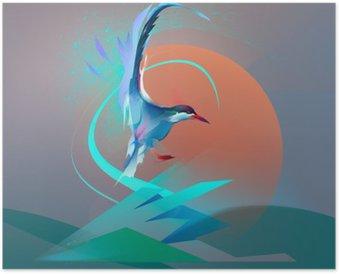 Bird seagull tern Poster