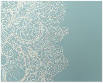 Poster Bordure de l'élément décoratif. Résumé carte d'invitation. Modèle wa