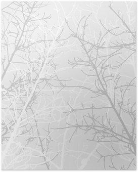 Poster Branches texture motif. fond souple.