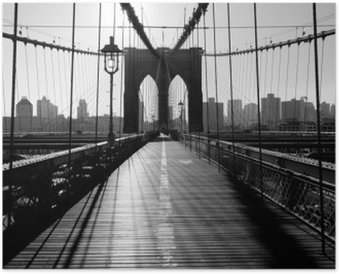 Brooklyn Bridge, Manhattan, New York City, USA Poster