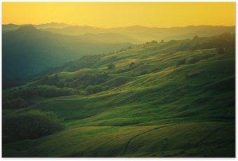 Poster Californie du Nord paysage
