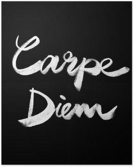 Poster Carpe Diem. Citation manuscrite