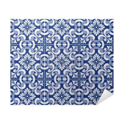 Carrelage motif ancien portugais poster pixers we for Carrelage motif ancien