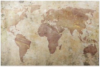 Poster Carte de cru du monde
