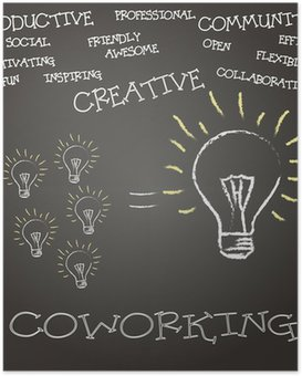 Poster Coworking Concepto