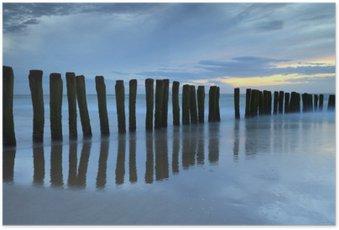 Poster Crépuscule sur la plage de Calais