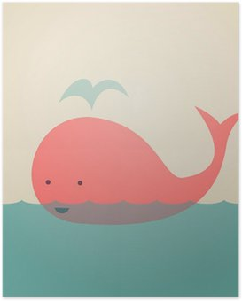 Cute Whale Poster