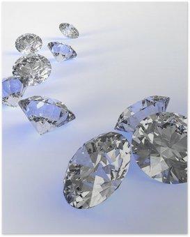 Poster Diamants 3d dans la composition en tant que concept