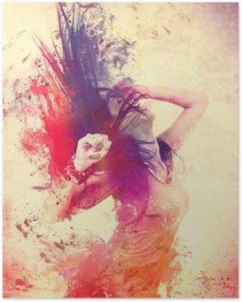 Poster Disco disco 08 / danse splash