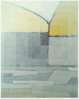 Poster Een abstract schilderij