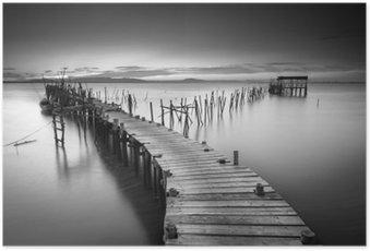 Poster Een rustige oude pier
