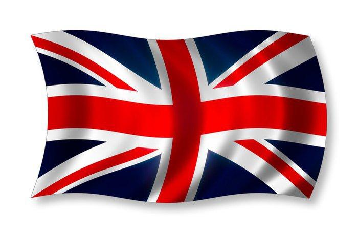 Poster England fahne - Europeiska städer