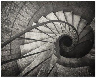 Póster Escalera de caracol