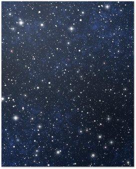 Póster Estrellado cielo nocturno