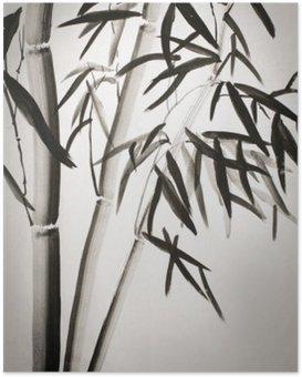 Poster Feuilles de bambou