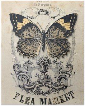 Poster Flea vintage background du marché