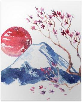Poster Fleur de cerisier du Japon.