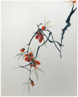 Poster Floraison de Sakura