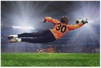 Poster Football goalman sur la pelouse du stade