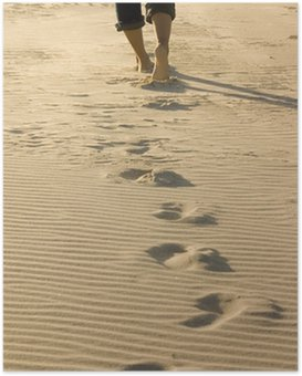 Póster Footprints