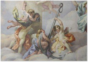 Poster Fresken, Karlskirche, Wien