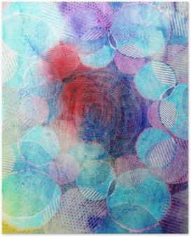Poster Gekleurde cirkels kunst illustratie